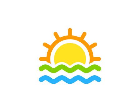 波アイコン ロゴのデザイン要素