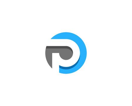 문자 P 아이콘 로고 디자인 요소 일러스트