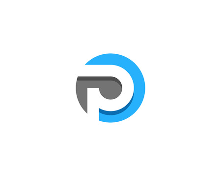 Letter P Icon Logo Design Element Çizim