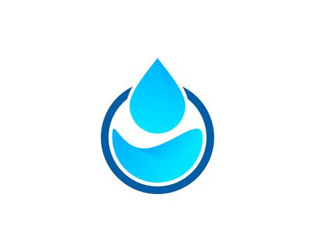 물 아이콘 로고 디자인 요소 일러스트