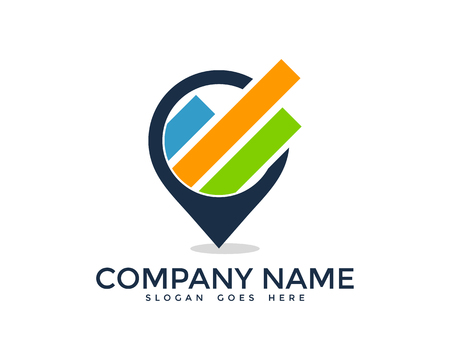 Report Icon Logo Design Element Ilustrace