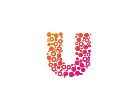 Particle Letter U Icon Logo Design Element Stock Illustratie