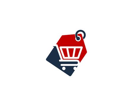 Winkelen pictogram ontwerpelement Stock Illustratie