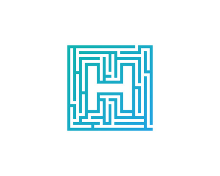 Maze Letter H Icon Logo Design Element Illustration