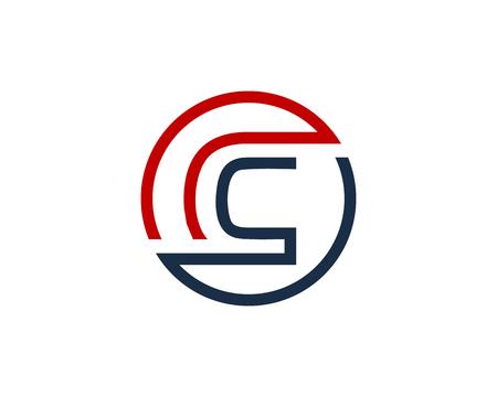 Letter C Circle Line Icon Logo Design Element Illustration