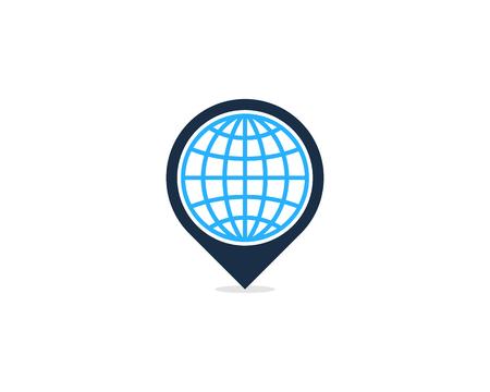 핀 포인트 아이콘 로고 디자인 요소