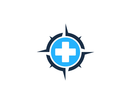 Medical Compass Icon Logo Design Element