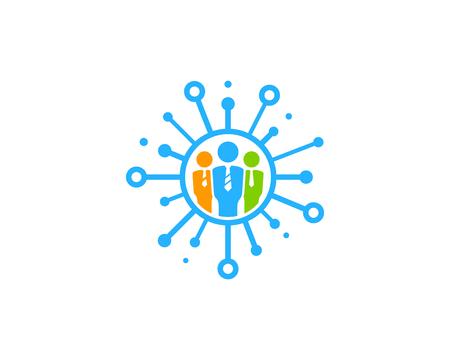 Share Icon Logo Design Element Illustration