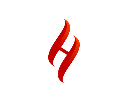 Letter H Icon Logo Design Element
