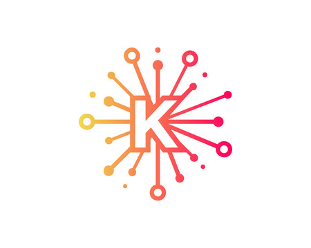 Share Letter K Icon Logo Design Element Illustration
