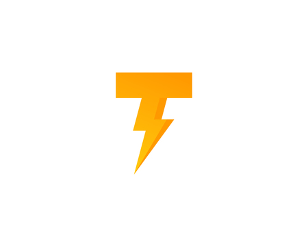 t square: Letter T Icon Logo Design Element Illustration