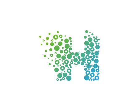 Partikel Buchstabe H Icon Logo Design Element Standard-Bild - 80819574