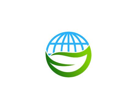 글로브 아이콘 로고 디자인 요소