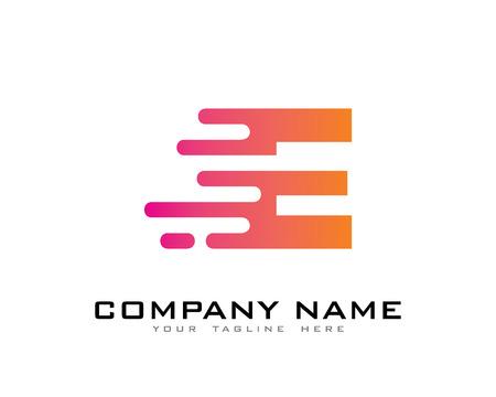 Speed Letter Icon Logo Design Element Ilustração