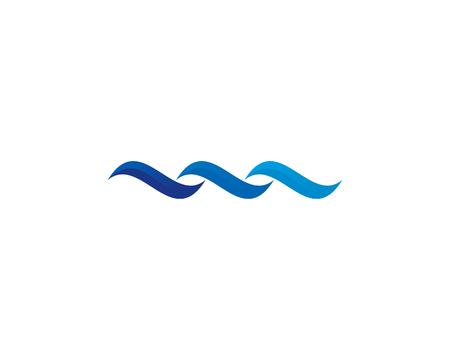 웨이브 아이콘 로고 디자인 요소 일러스트