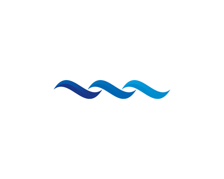 Wave Icon Logo Design Element Banco de Imagens - 80806398
