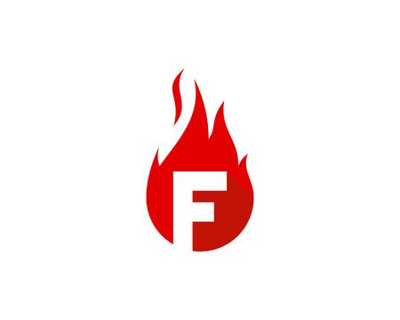 Letter F Icon Logo Design Element Illustration