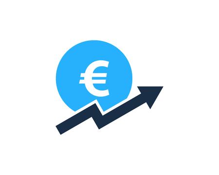 cultivate: Stock Market Business Icon Logo Design Element Illustration