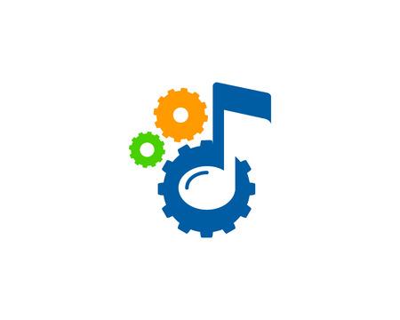 logo music: Music Icon Logo Design Element Illustration