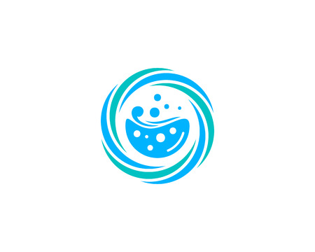 Laundry Icon Logo Design Element Фото со стока - 80612155