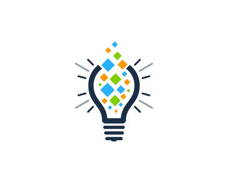 Creative Idea Icon Logo Design Element Ilustração