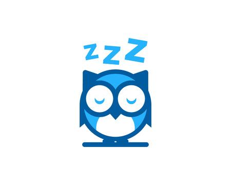 Sleep Icon Logo Design Element