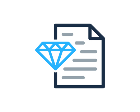 Diamond Icon Logo Design Element Фото со стока - 80612384
