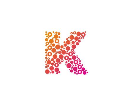 Particle Letter K Icon Logo Design Element