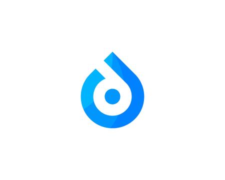 文字 D アイコン ロゴのデザイン要素