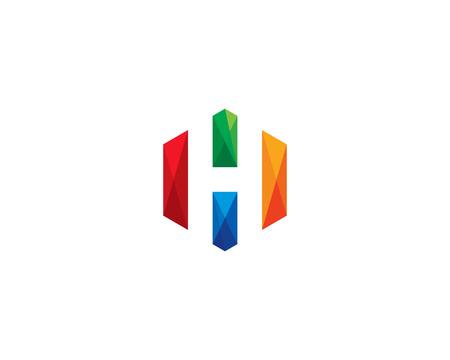 Letter H Icon Logo Design Element