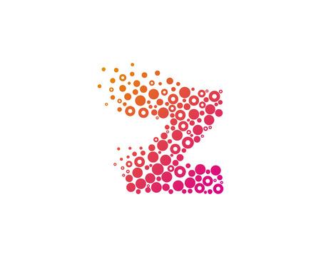 Particle Letter Z Icon Logo Design Element