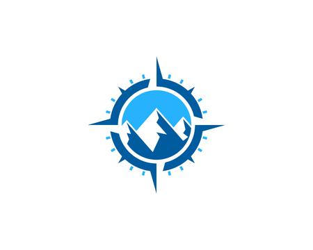 Mountain Compass Icon Logo Design Element