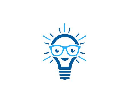 Creative Idea Icon Logo Design Element Vettoriali