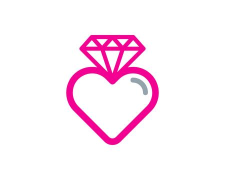 Diamond Icon Logo Design Element Иллюстрация