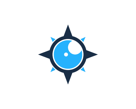 Compass Icon Logo Design Element 向量圖像