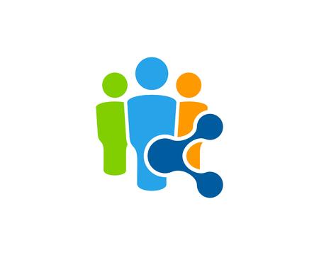 Share Icon Logo Design Element Ilustração