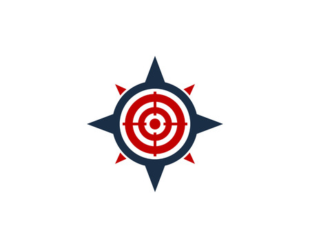 Compass Icon Logo Design Element Иллюстрация