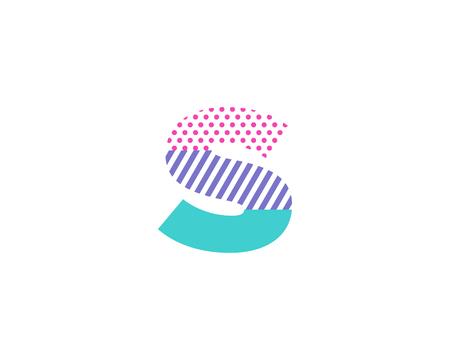 Geometric Letter S Icon Logo Design Element