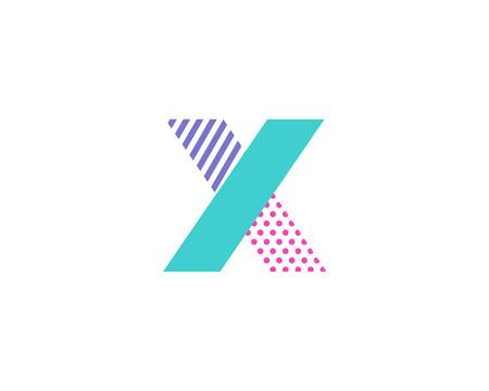 Geometric Letter X Icon Logo Design Element Illustration