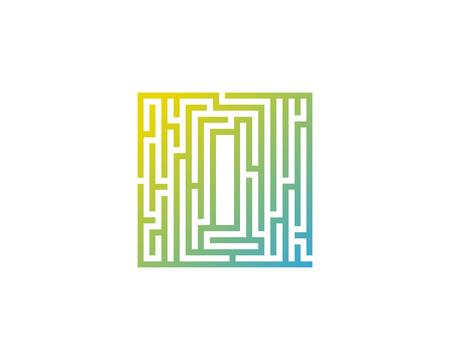 Maze Letter I Icon Logo Design Element Illustration