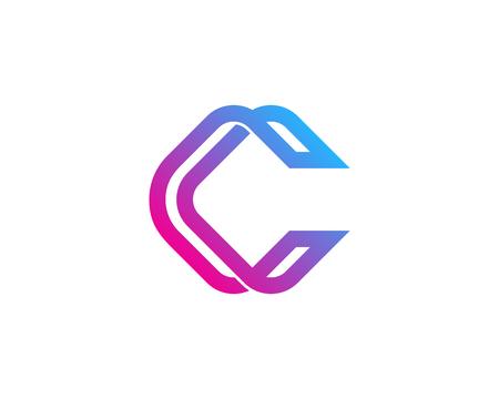 手紙 C アイコン ロゴのデザイン要素