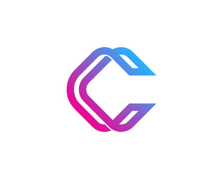 Letter C Icon Design Element Иллюстрация
