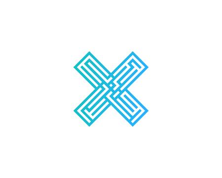 lettre x icône élément de conception de logo