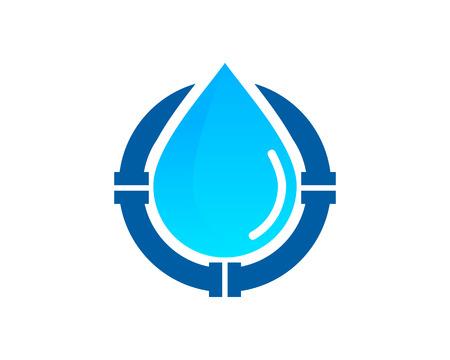 Icono de agua Elemento de diseño del logotipo Foto de archivo - 80818986