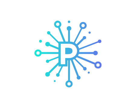 Share Letter P Icon Logo Design Element
