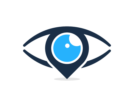 目アイコンのロゴのデザイン要素  イラスト・ベクター素材