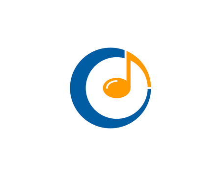 Musik Icon Logo Design Element Standard-Bild - 80819434