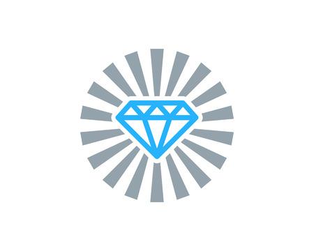 ダイヤモンド アイコン ロゴのデザイン要素  イラスト・ベクター素材