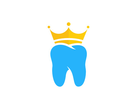 King Dental Icon Logo Design Element Ilustracja