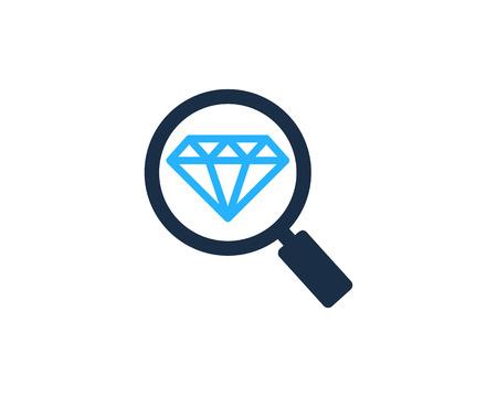 Diamond Icon Logo Design Element Illusztráció